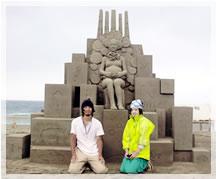 2007年 彫刻家の保坂さんと特別砂像
