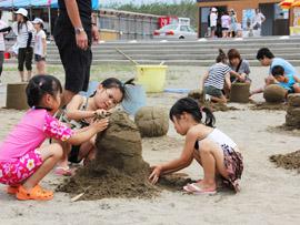砂像制作体験コーナー