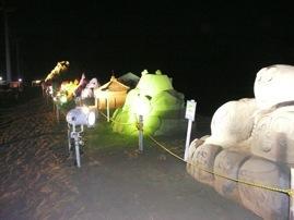砂像ライトアップ