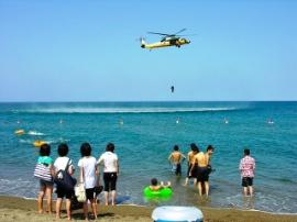 航空自衛隊秋田救難隊救助活動訓練